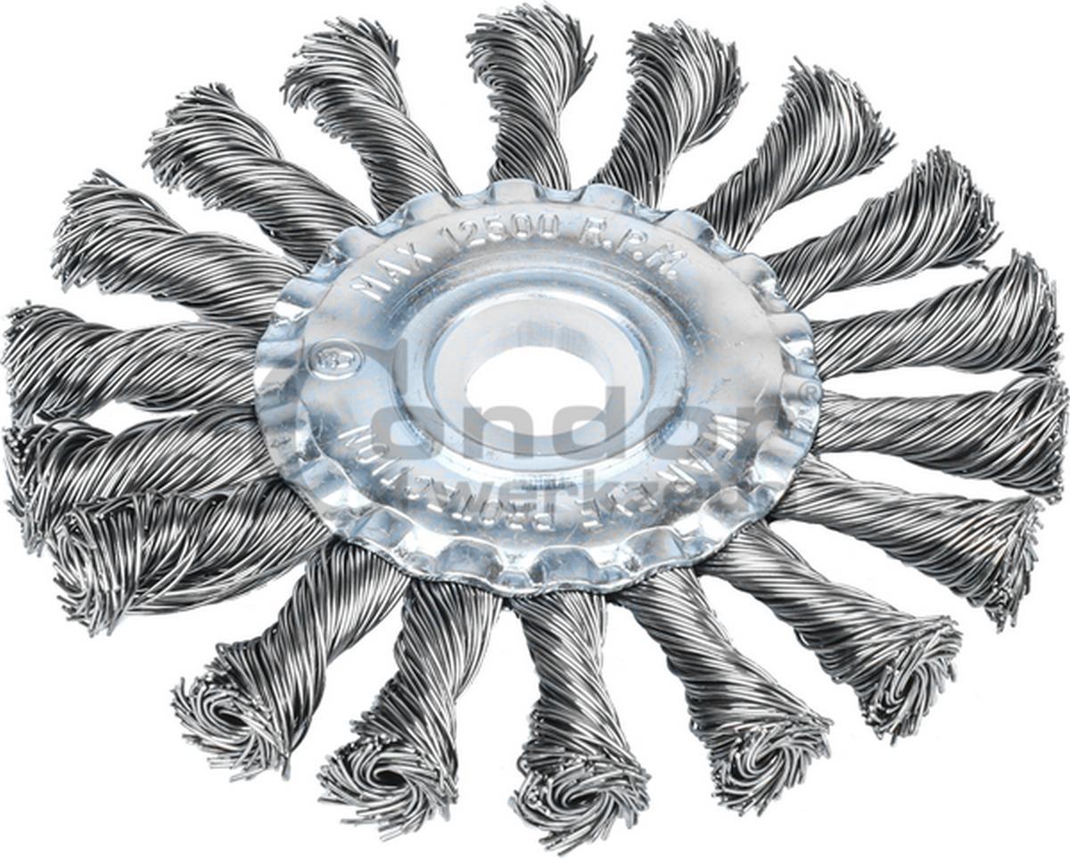 ΣΥΡΜΑΤΟΒΟΥΡΤΣΑ ΤΡΟΧΟΥ Φ115mm ΤΡΥΠΑ 22,2mm