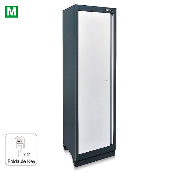 NTOYΛΑΠΙ ''Tall Cabinet'' ''BLACK GREY'' WMS