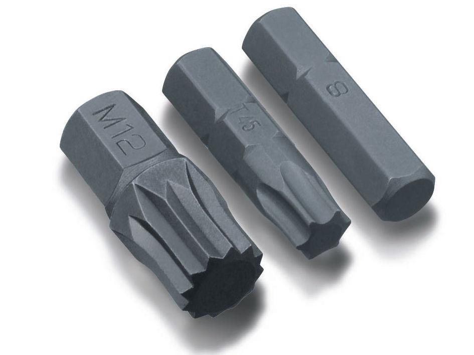 Μύτες κοντές allen - torx - πολύσφηνες 10 mm